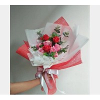 Cherry Rose Valentine Bouquet II Free ongkir ( Jakarta only)