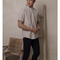 aaron shirt short sleeve cream size L by zoma basic