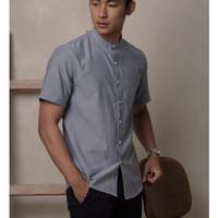 aaron shirt short sleeve blue size L by zoma basic