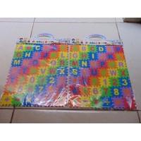 Puzzle Bahan Spon Mainan Kreatif Anak Angka Dan Huruf Isi 42 Puzzle