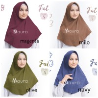 Khimar Fatya NEW size S by Maura Jilbab Kaos Premium Daily Adem