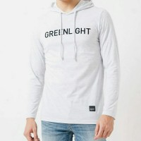 kaos long sleve hoodie pria GREENLIGHT ORIGINAL