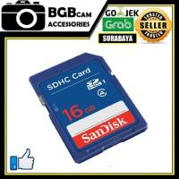 SD Card Sandisk 16gb class 4 Memory DSLR dan Digital Camera