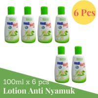 Medisoft Mosquitto Repelent Botol 100ml Lotion Anti Nyamuk Hijau 6Pcs