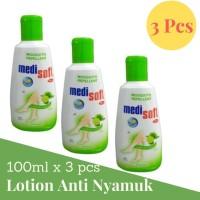 Medisoft Mosquitto Repelent Botol 100ml Lotion Anti Nyamuk Hijau 3Pcs