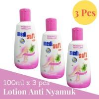 Medisoft Mosquitto Repelent Botol 100ml Lotion Anti Nyamuk 3Pcs Pink
