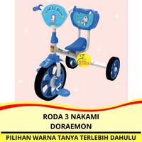 Sepeda Anak Roda 3 (Tiga) Tricycle Nakami Doraemon Ban Karet Murah