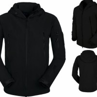 JAKET Taslan WATERPROOF BLACK SOFTSHELL TAD (POLOS)