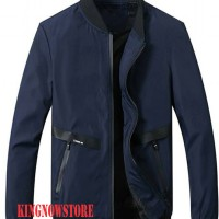 JAKET Taslan WATERPROOF UNIKLO NAVY BLUE