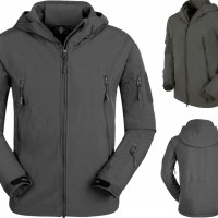 JAKET Taslan WATERPROOF GREY SOFTSHELL (POLOS)