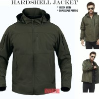 JAKET Taslan WATERPROOF GREEN ARMY HARDSHELL