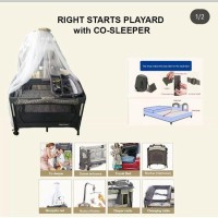Rightstart Flexi Playard Stone Black with Co-sleeper Babybox