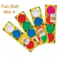 refill fun doh mix 4 warna refill lilin fun doh isi ulang lilin mainan