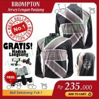 Jersey Sepeda Lipat Brompton Dri Fit Lengan Panjang Pria Wanita