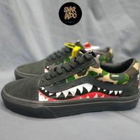 Sneakers Vans Old Skool Bape Camo Grey/Black