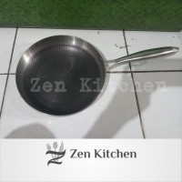 wajan Fry pan anti lengket 28 cm stainless 304