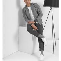 luton bomber jacket grey size L by preppstudio.com