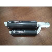 Knalpot Tridente F22 250cc 2 Cylinder Full System Carbon
