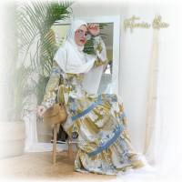 Urfimutiyaro Petunia Dress Olive Gamis Only Motif Bahan Dior