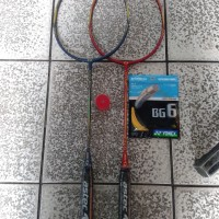 Raket badminton astec original stellar 3200 ( Biru / Merah )