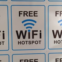 Stiker FREE WIFI HOTSPOT Vinyl Anti Air