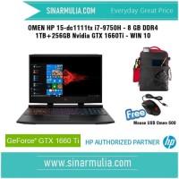 OMEN HP 15-dc1111tx i7-9750H 8 GB DDR4 1 TB+256 GB Nvidia GTX 1660Ti