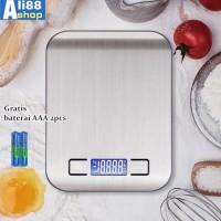Timbangan Dapur Kue Digital Stainless 5 Kg /0.1G
