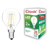 LAMPU LED FILAMEN CHIYODA P45 2W E14/PUTIH CLEAR