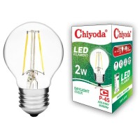 LAMPU LED FILAMEN CHIYODA P45 2W E27/KUNING CLEAR