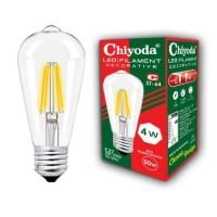 LAMPU LED FILAMEN CHIYODA ST64 4W CLEAR WW/KUNING