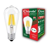 LAMPU LED FILAMEN CHIYODA ST64 7W CLEAR WW/KUNING