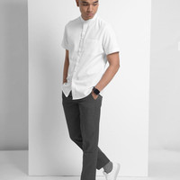 wells short sleeve shirt white size L by preppstudio
