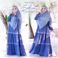 FENUZA SOFIA DRESS RARE BLUE GAMIS ONLY BAHAN CREPE FLORIDA
