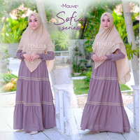 FENUZA SOFIA DRESS MAUVE GAMIS ONLY BAHAN CREPE FLORIDA