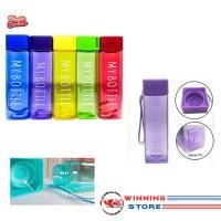 My Bottle Persegi Full Colour Transparan 500 ml - Infused Water Korean