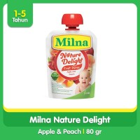 Milna Nature Delight Apple and Peach 80gr