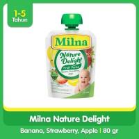 Milna Nature Delight Nature Banana, Strawberry, Apple 80gr