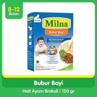 Milna Bubur Reguler 8+ Bulan Tumis Hati Ayam Brokoli 120gr