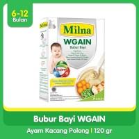 Milna Bubur Bayi Wgain 6 bulan Ayam Kacang Polong 120gr