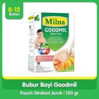 Milna Bubur Bayi Goodmil 8+ Peach, Stroberi, Jeruk