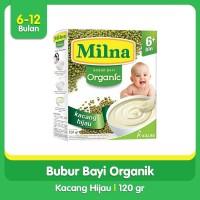 Milna Bubur Bayi Organic 6+ Kacang Hijau