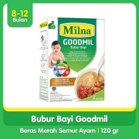 Milna Bubur Bayi Goodmil 8+ Beras Merah Semur Ayam