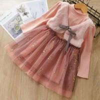 rok dress bayi anak motif vest cantik