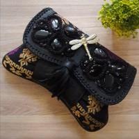 Clutch Wanita Minang Songket Hitam