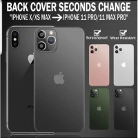 IPHONE XS MAX FAKE BACK CASE COVER CHANGE TO IPHONE 11 PRO MAX