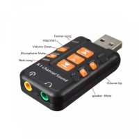 USB Sound Adapter 8.1 Channel 3D Audio Microphone Headset 3.5mm