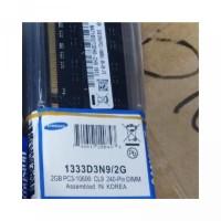 RAM MEMORY SAMSUNG DDR3 2GB PC10600 PC12800 LONGDIM