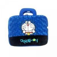 Tas Laptop Notebook Bulu 14 Inch - Doraemon Biru Tua