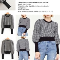 Houndstooth Knit Pullover Sweater (size S.M.L)