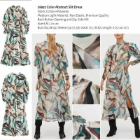 Color Abstract Slit Dress (size S.M.L)
